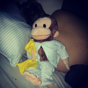 Royce's Curious George doll