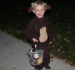 Royce as Curious George for Halloween