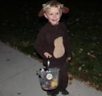 Royce as Curious George for Halloween